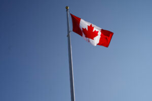 Canadian flag at Alexandria Park